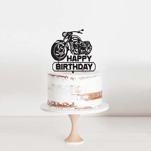 Harley Happy Birthday  - Cake Topper