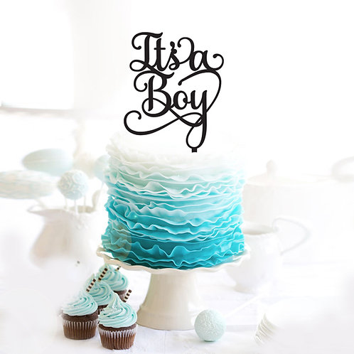 Its a Boy - Baby Shower Cake Topper