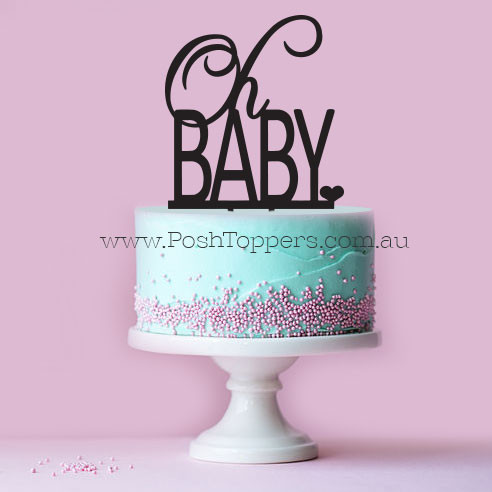 baby shower cake toppers oh baby topper cake toppers australia wedding 1438