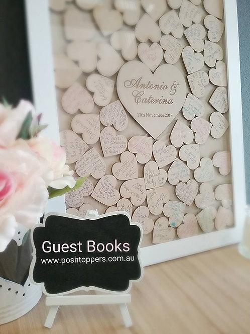 Guest Book Drop Box - 120 Hearts