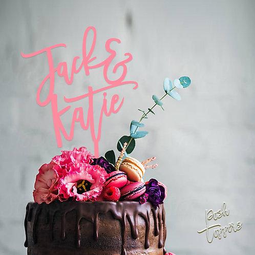 Script Name & Name - Cake Topper