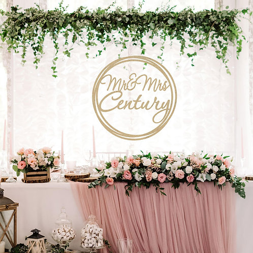 Wooden Hoop Sign - Event Signage - Any Wording