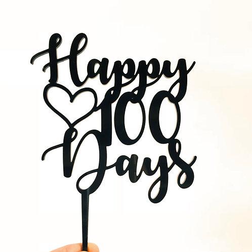 Happy 100 Days - Cake Topper