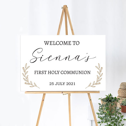 Personalised First Holy Communion - Welcome Board
