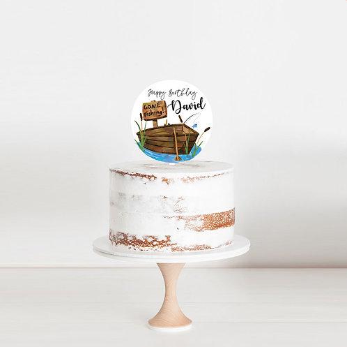 Gone Fishing - Birthday Cake Topper
