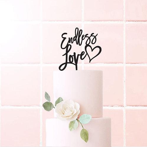 Endless Love Heart - Cake Topper