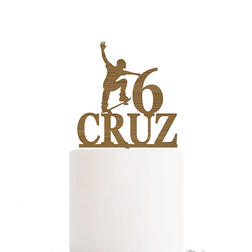 Custom Skateboard - Birthday Cake Topper