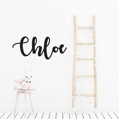 Acrylic or Wooden - Scripted Laser Cut Name