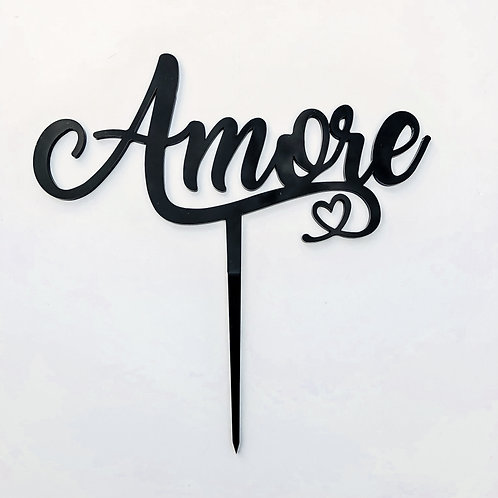 Amore with Heart - Cake Topper
