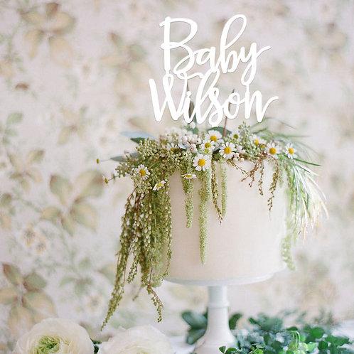 Baby Custom Name - Shower Cake Topper
