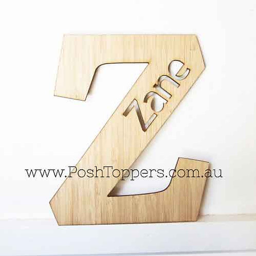 Bamboo Wall Letter with Custom Name