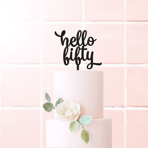 Hello Fifty - Cake Topper