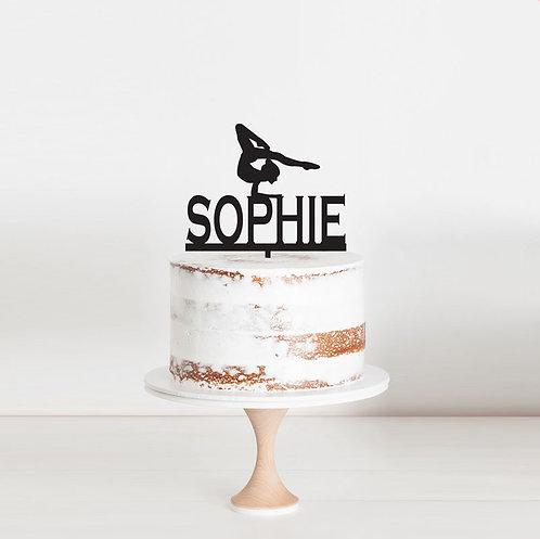 Gymnastics Custom Name - Cake Topper 1