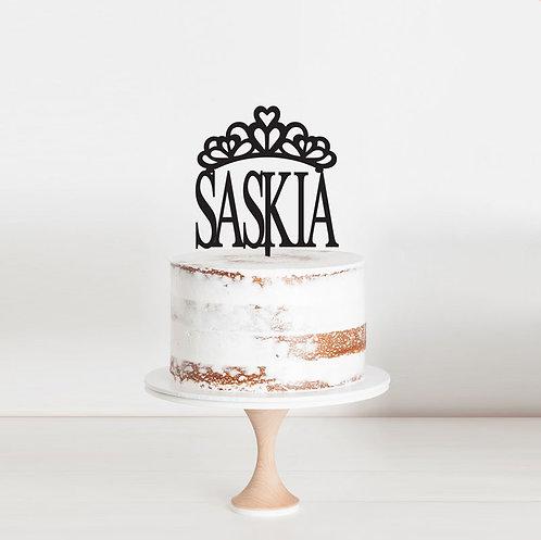 Princess Crown- Custom Name Cake Topper