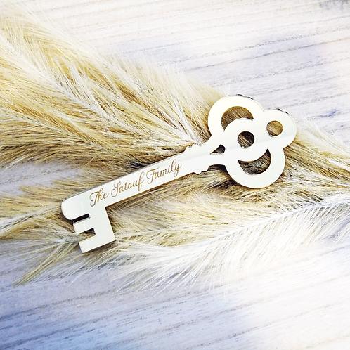 Personalised Family Key - Acrylic Decoration