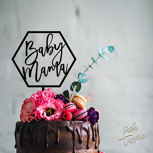 Hex Baby Mama - Shower Cake Topper