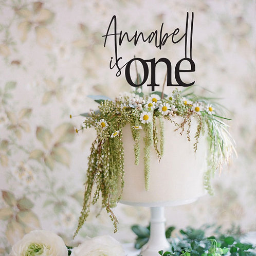 Script Name is one -  Birthday Cake Topper