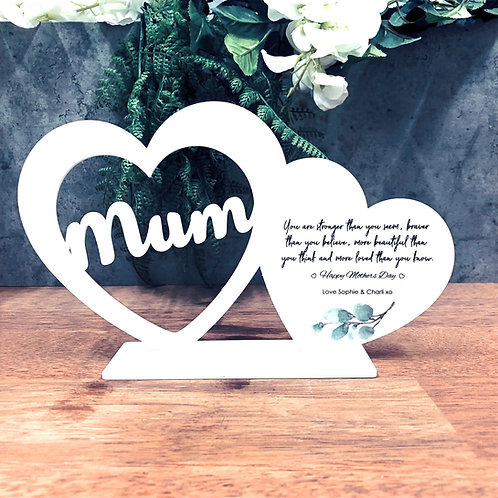 Mothers Day Personalised Heart