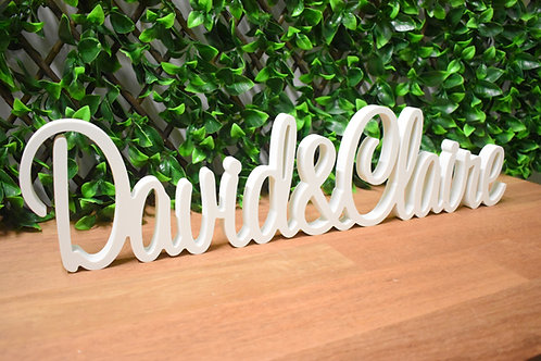 Custom Name & Name - White Wedding Signs