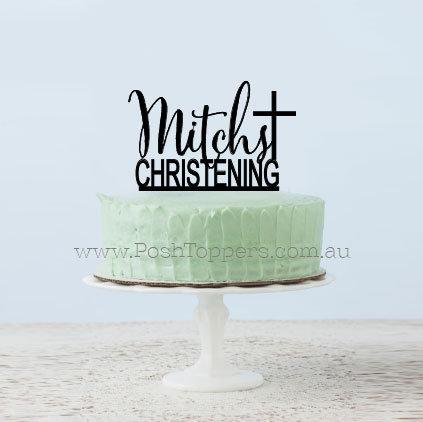 Scripted Name Christening + Cross