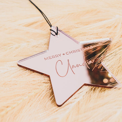 Merry Christmas - Star Ornament