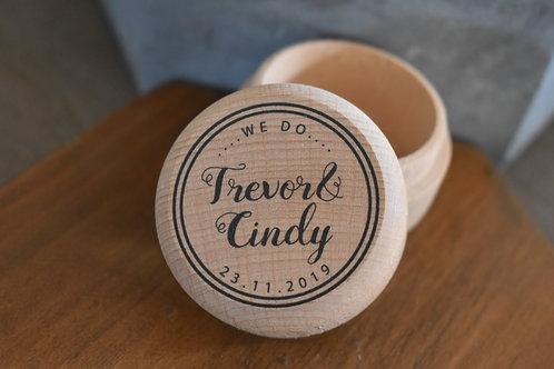Wooden Ring Box - Design 1