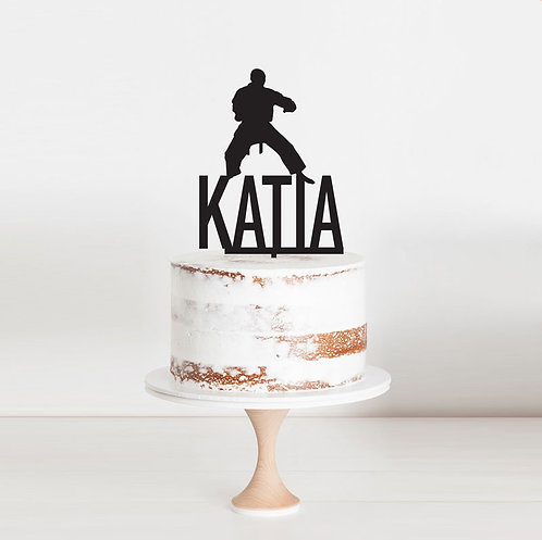 Karate Martial Arts  - Cake Topper