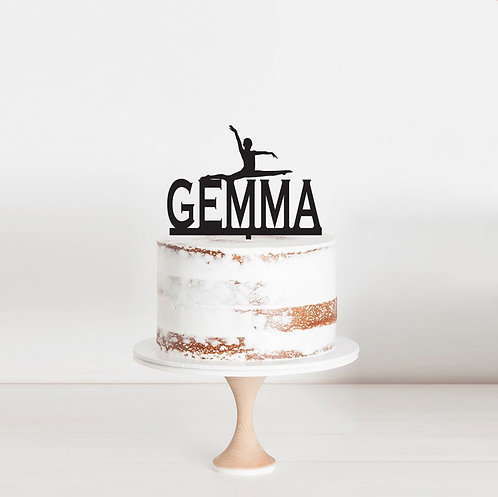 Gymnastics Custom Name - Cake Topper 2