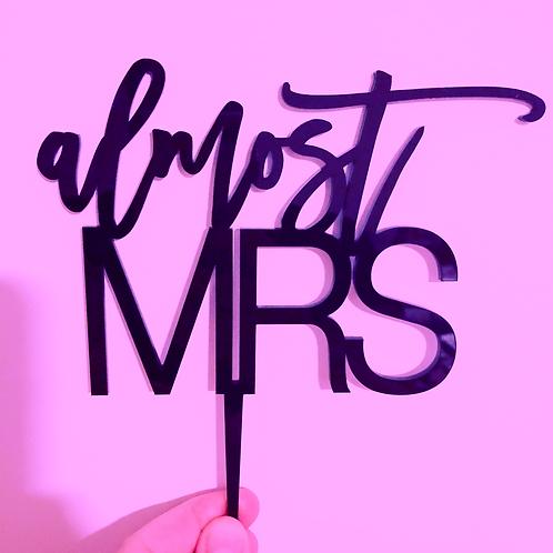 almost MRS - Bridal Shower Cake Topper