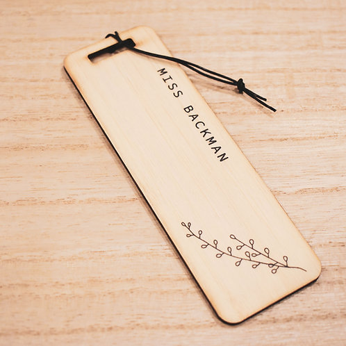 Botanical Bookmark - Teachers Gift