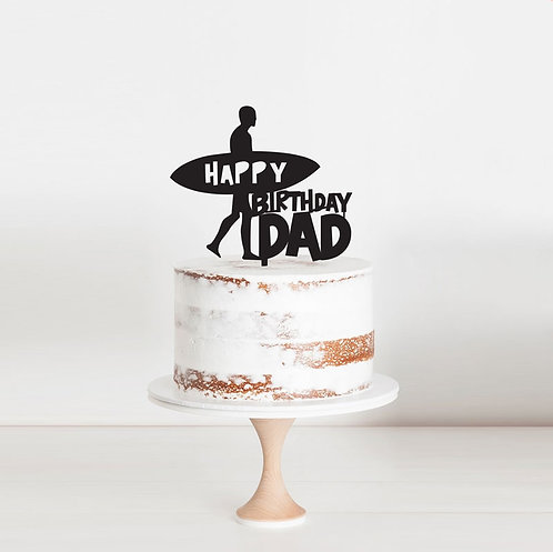 Surfer Custom Name - Cake Topper