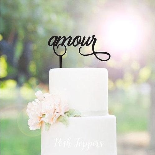 Amour - Cake Topper