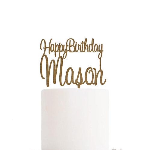 Happy Birthday Name - Birthday Cake Topper