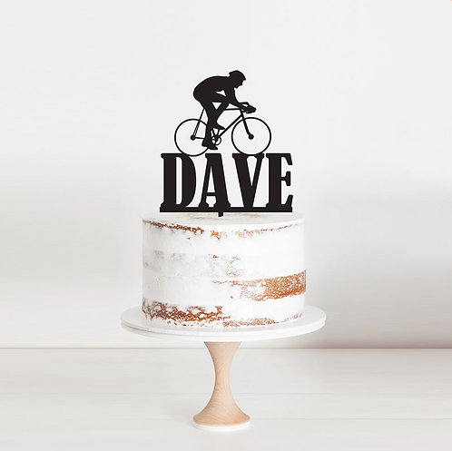 Cyclist Bike Rider - Cake Topper