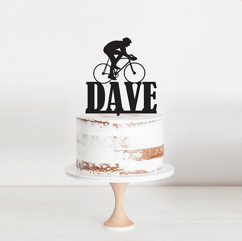 Cyclist Bike Rider - Cake Topper