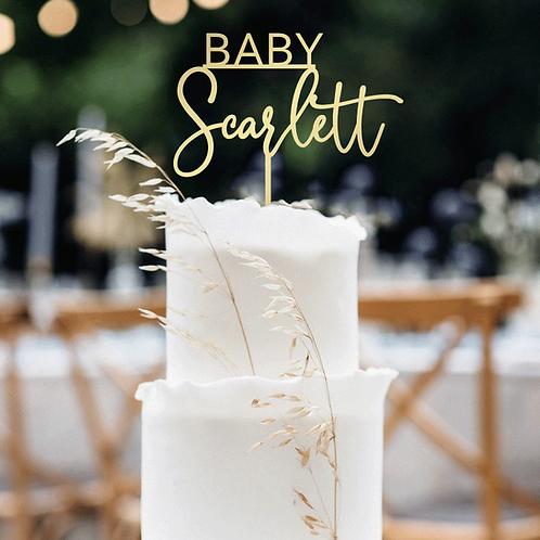 BABY Custom Name - Cake Topper