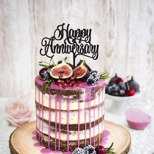 Happy Anniversary - Cake Topper