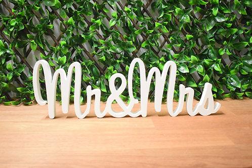 Mr&Mrs  - White Wedding Signs