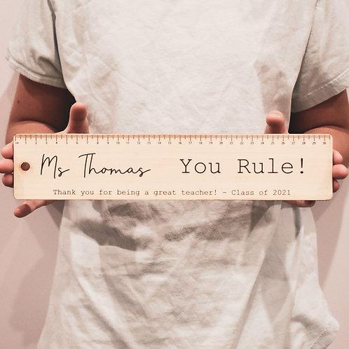 Personalised Teacher Ruler - You Rule