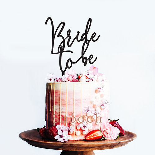 Bride to Be no heart - Cake Topper