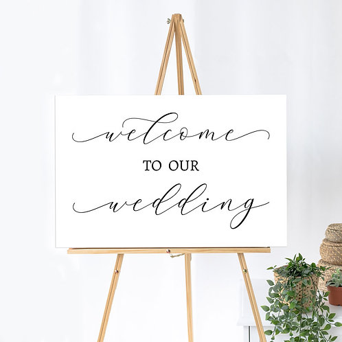 Welcome to our Wedding - Landscape