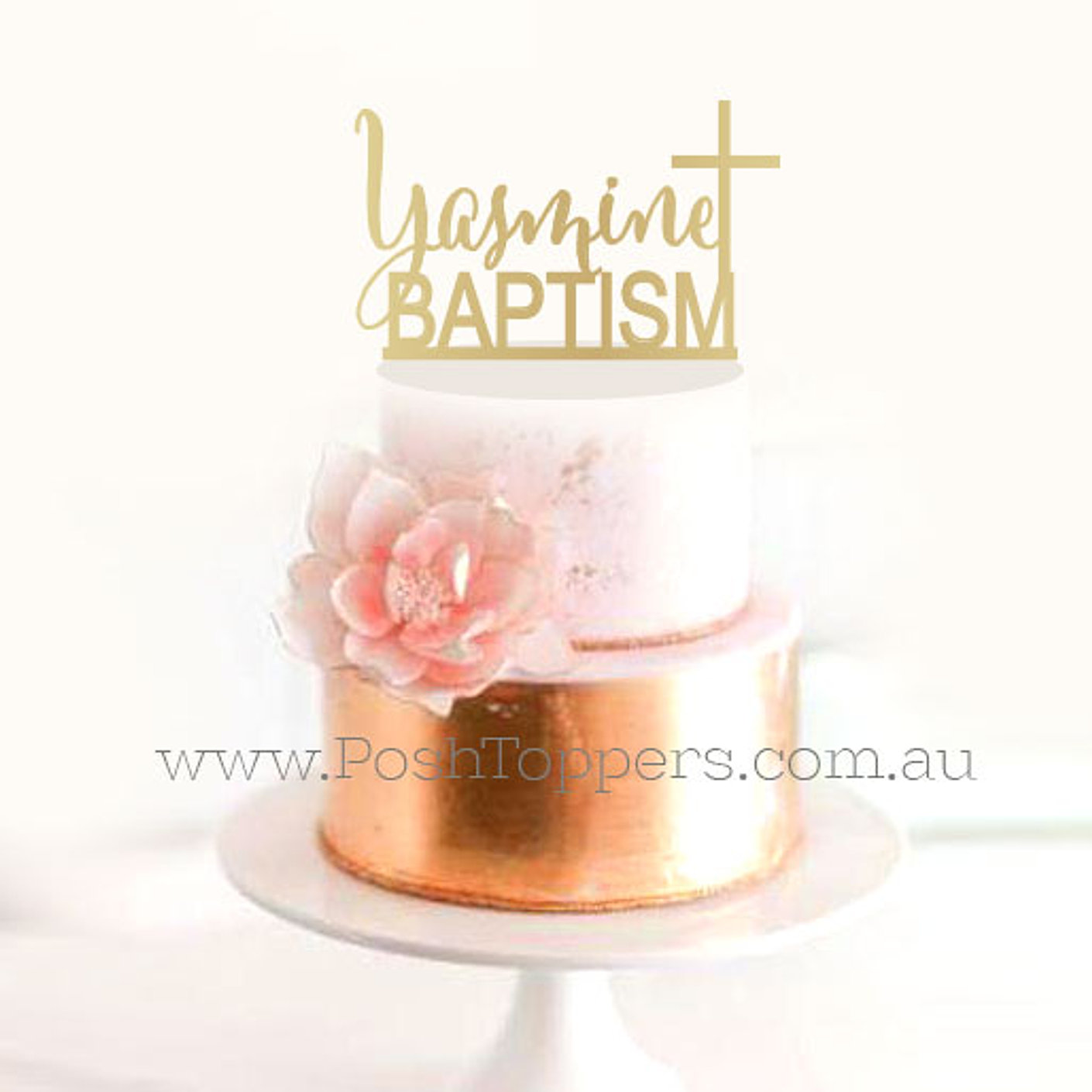 Confirmation Acrylic Cake Topper