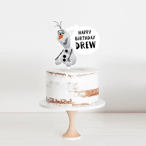 Olaf Frozen - Birthday Cake Topper