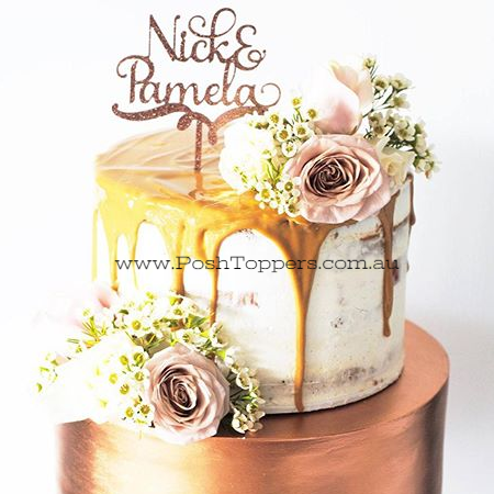 Amazing cake by _minniesweetcreations and topper by #urbanwordsaustralia #rosegold #copper #butttercream #caramel #caketopper #topper #madei_edited_edited