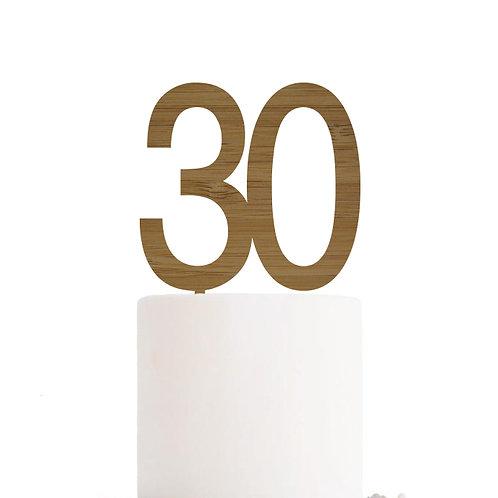 Large Number Cake Topper