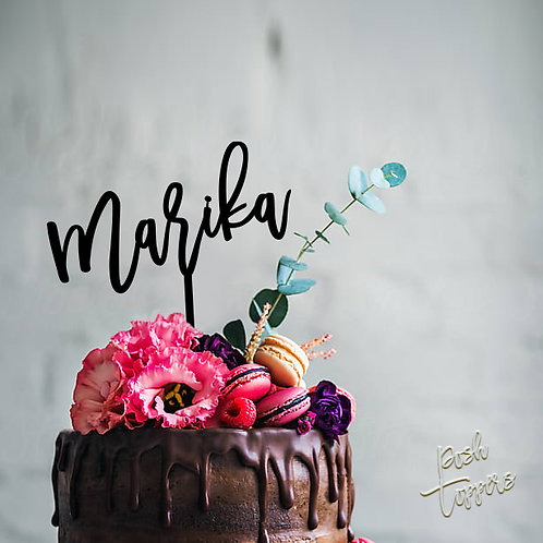 Script Custom Name / Word - Cake Topper