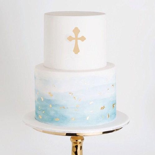 Religious Cross 4 -  Cake Topper