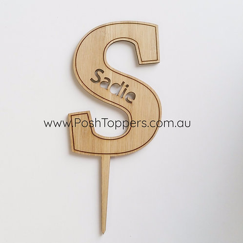 Bamboo Custom Letter with Name