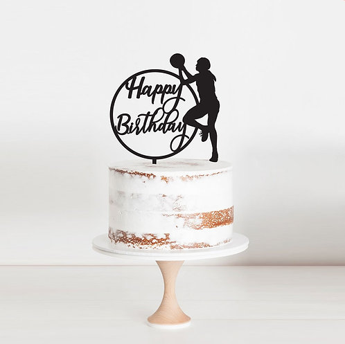 Netball Happy Birthday  - Cake Topper