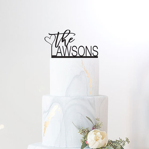 The Lawsons Scripted - Custom Wedding Cake Topper